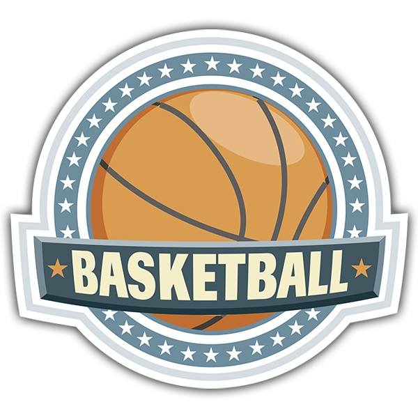 Aufkleber: basketball