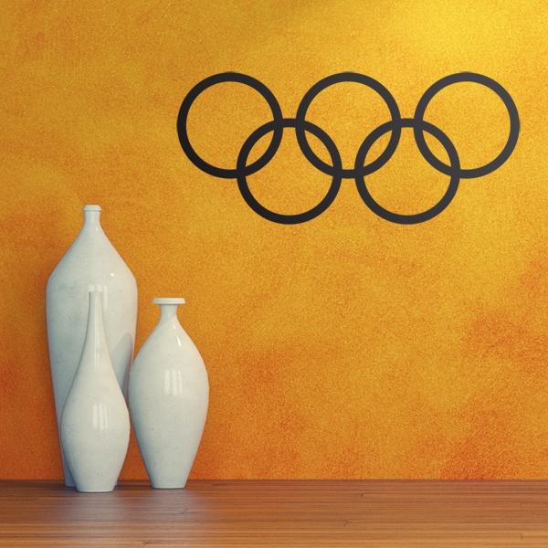 Aufkleber: Olympische Bänder