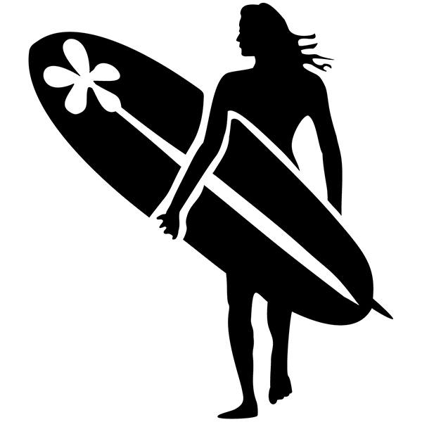 Wandtattoos: Surf Girl 2