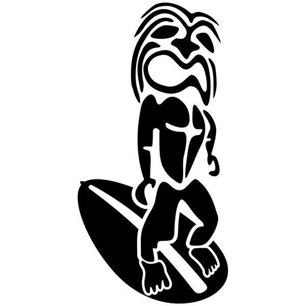 Wandtattoos: Rasta Surfer