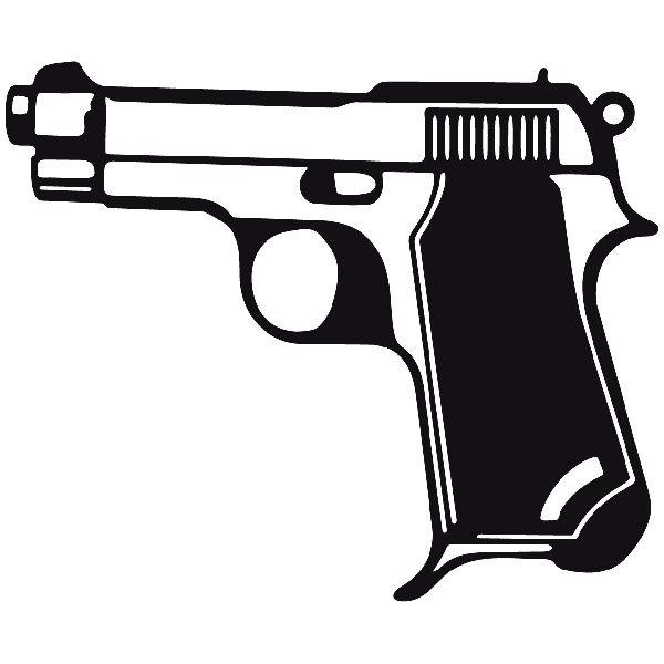 Aufkleber: Waffe 3