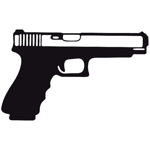 Aufkleber: Waffe 5