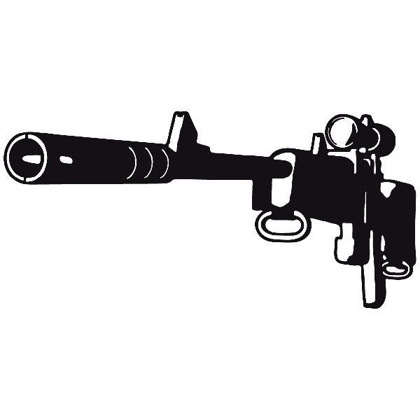 Aufkleber: Waffe 6