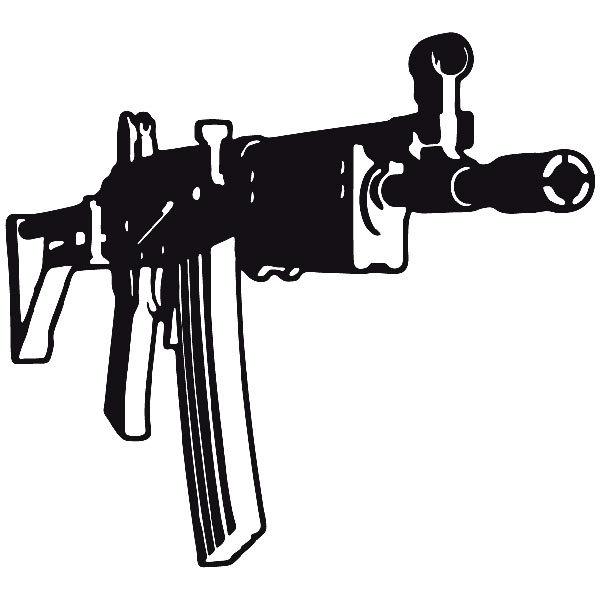 Aufkleber: Waffe 8