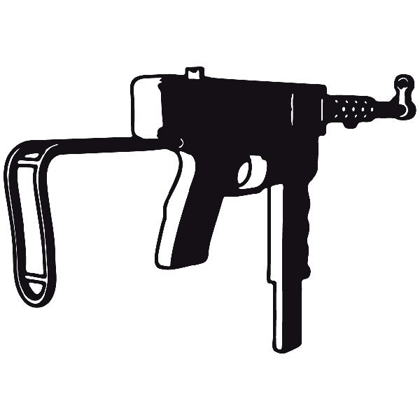 Aufkleber: Waffe 10