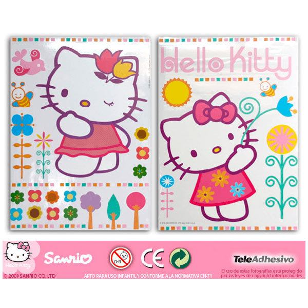 Kinderzimmer Wandtattoo: hello kitty 2 68x96 cm