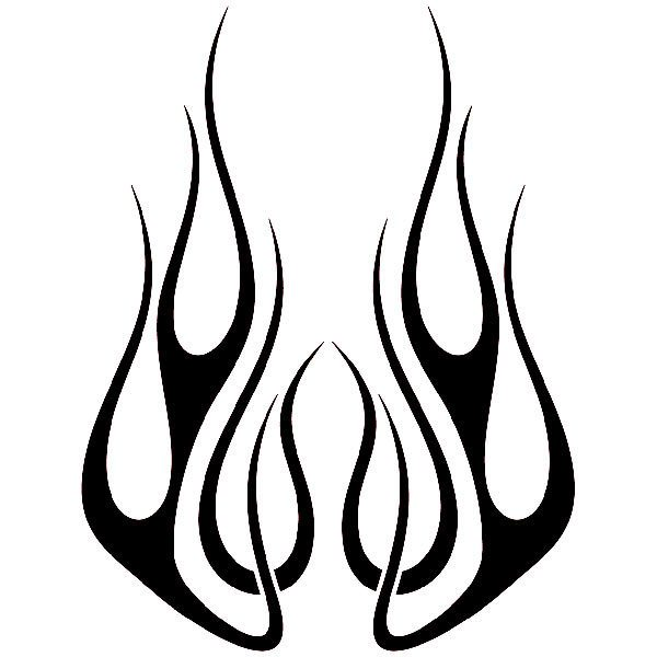 Aufkleber: Flames