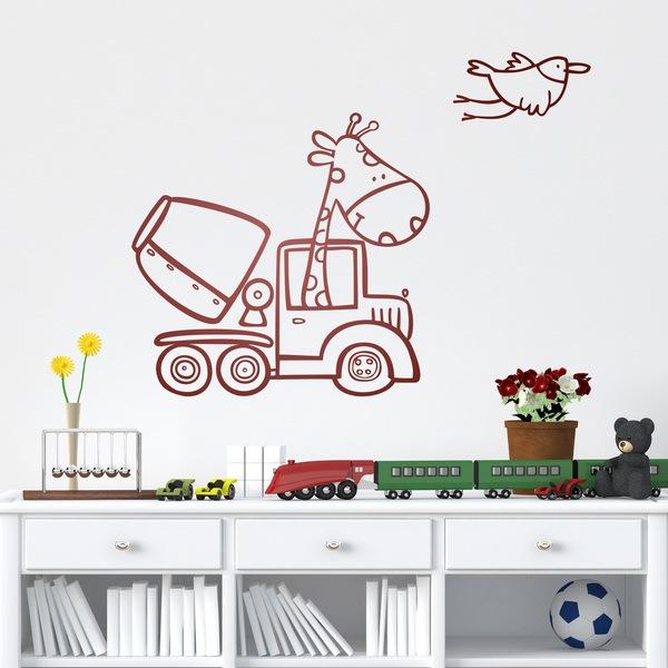 Kinderzimmer Wandtattoo: Construcción