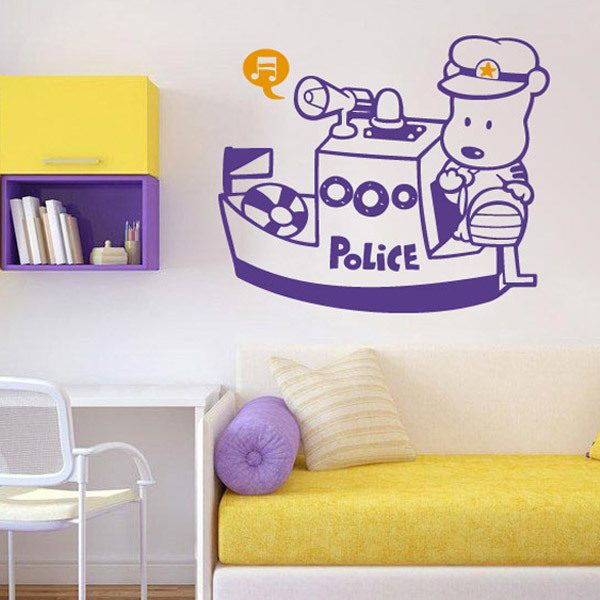 Kinderzimmer Wandtattoo: Police