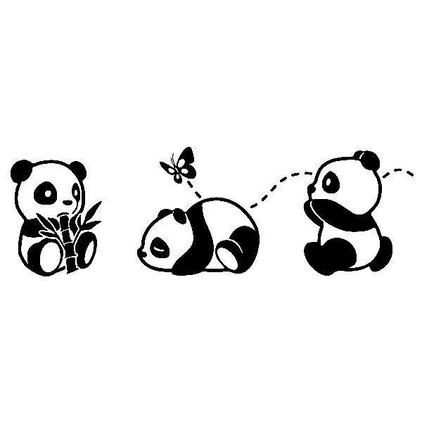 Kinderzimmer Wandtattoo: Die drei Pandas