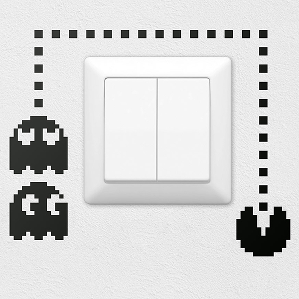 Wandtattoos: Pac-Man