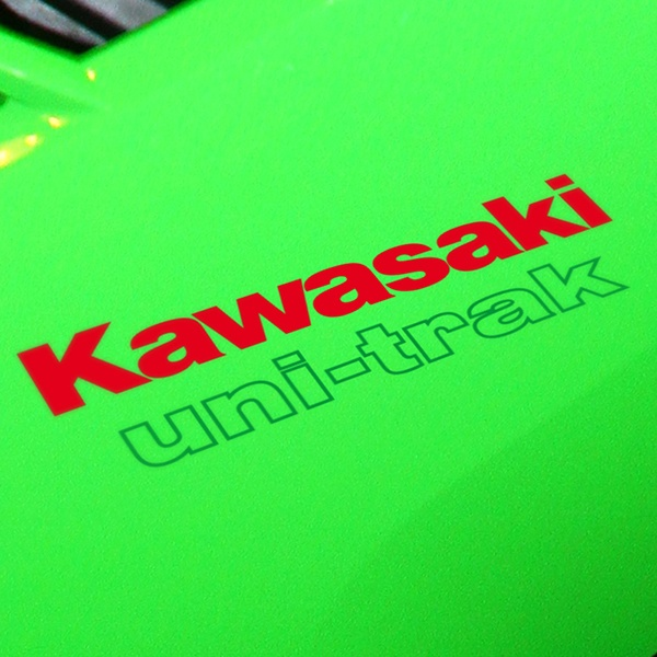 Aufkleber: GPZ, Kawasaki uni-trac