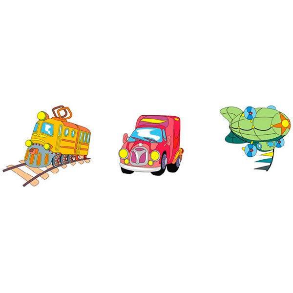 Kinderzimmer Wandtattoo: Transportation 02