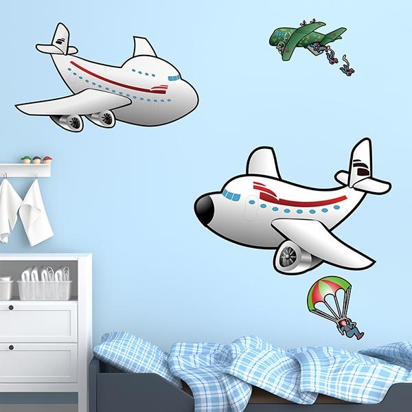 Kinderzimmer Wandtattoo: Avionada 02