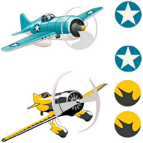 Kinderzimmer Wandtattoo: Race planes 01