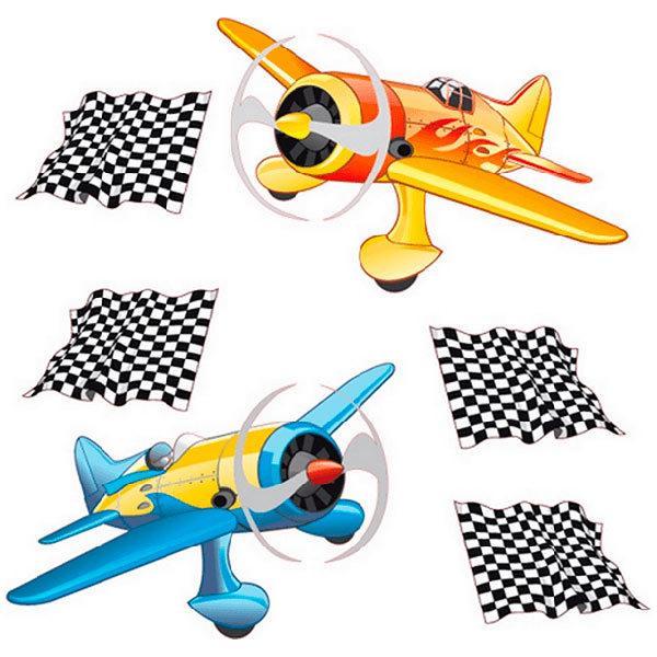 Kinderzimmer Wandtattoo: Race planes 05