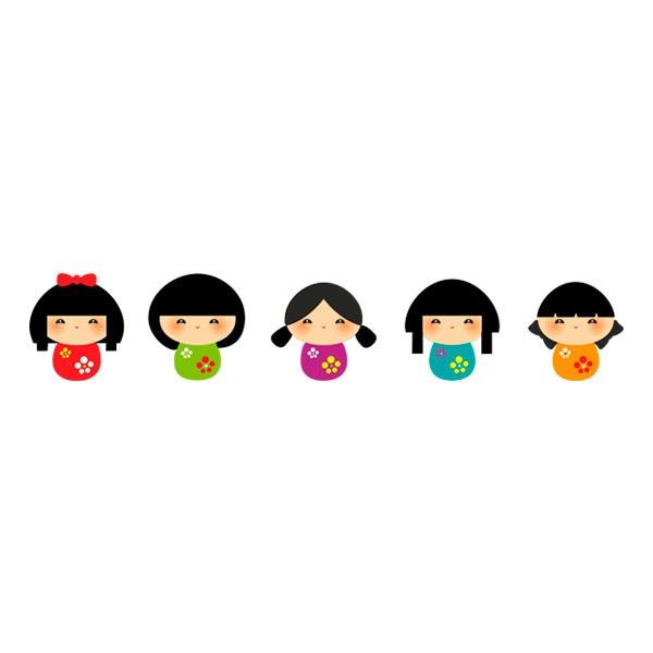 Kinderzimmer Wandtattoo: Chinese girls