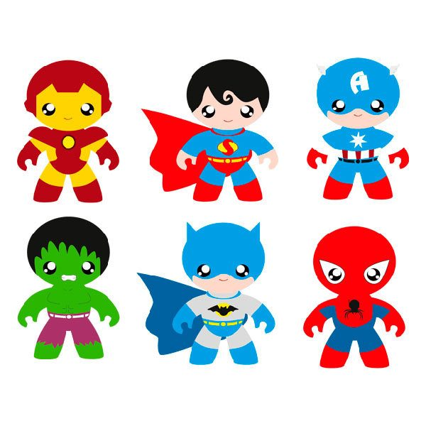 Kinderzimmer Wandtattoo: Heroes Kit
