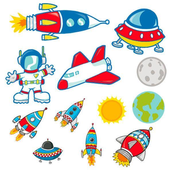 Kinderzimmer Wandtattoo: Space