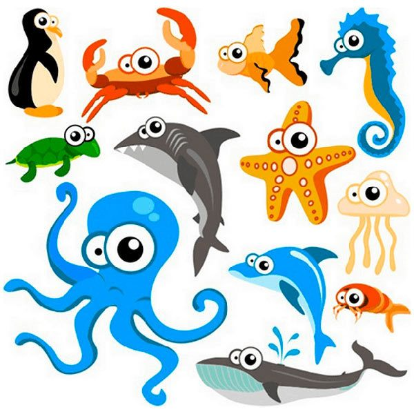 Kinderzimmer Wandtattoo: Aquarium 6