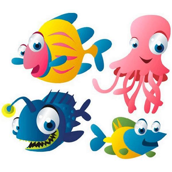 Kinderzimmer Wandtattoo: Aquarium 10