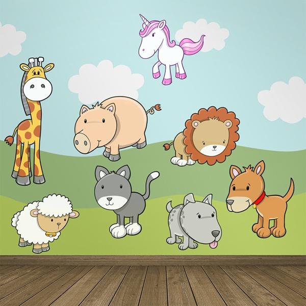 Kinderzimmer Wandtattoo: Zoo