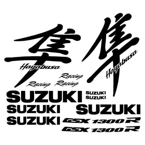 Aufkleber: Hayabusa 1990-00 logo set