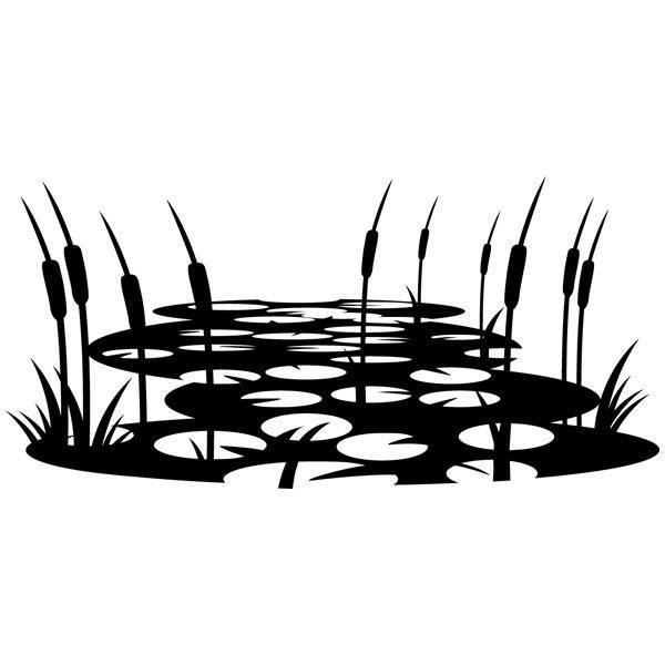 Wandtattoos: Teich