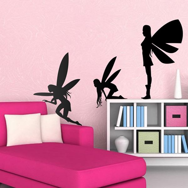 Wandtattoos: Fairies silhouettes