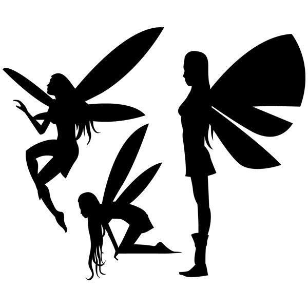 Wandtattoos: Fairies silhouettes