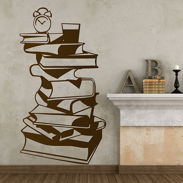 Wandtattoos Couchtisch Bücher