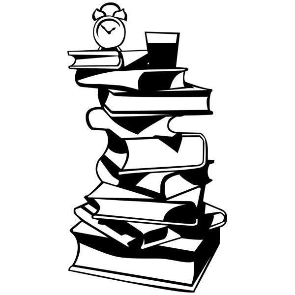 Wandtattoos: Couchtisch Bücher