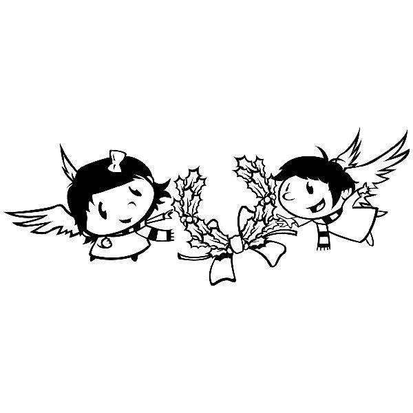 Wandtattoos: Zwei Engel