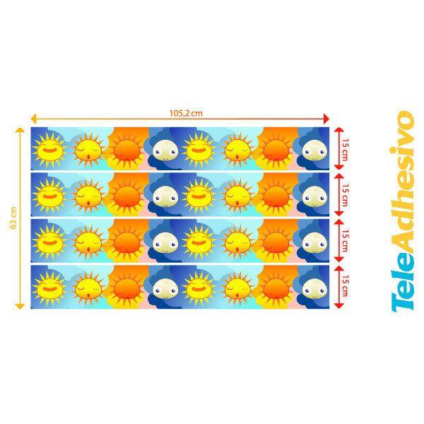 Kinderzimmer Wandtattoo: Scheuerleiste Sonnen-und Mond