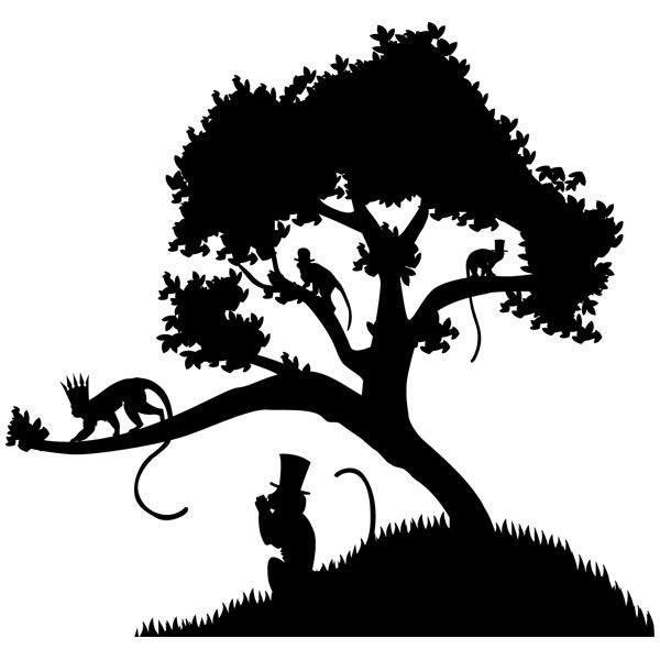 Wandtattoos: der Affenkönig