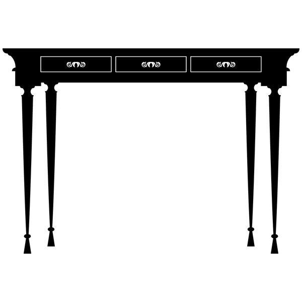 Wandtattoos: Vintage Tisch
