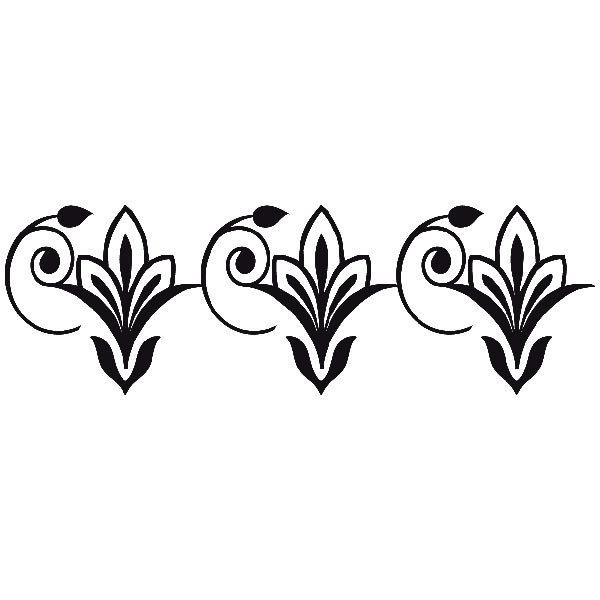 Wandtattoos: cenefa flor