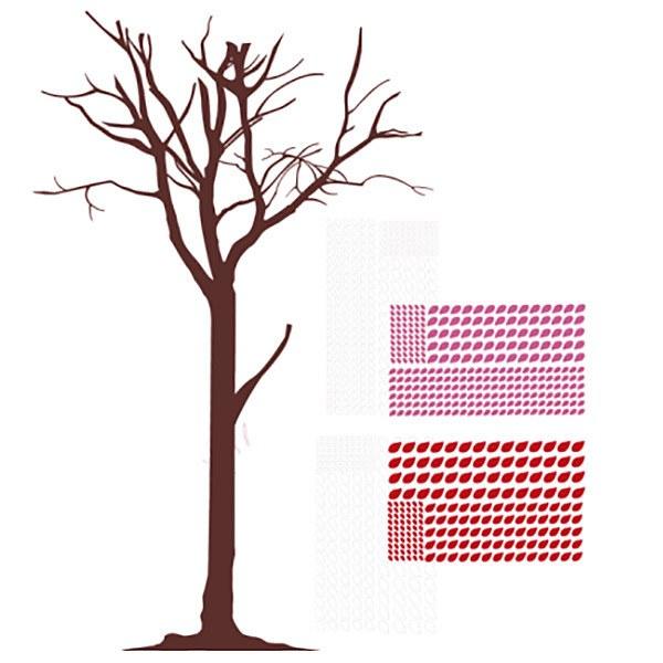 Wandtattoos: Blätter der Bäume