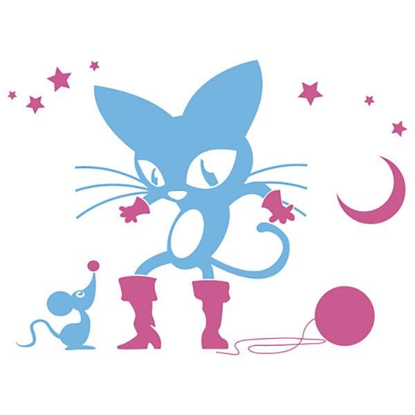 Wandtattoos: El gato con botas