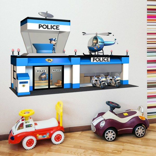 Kinderzimmer Wandtattoo: Polizeistation