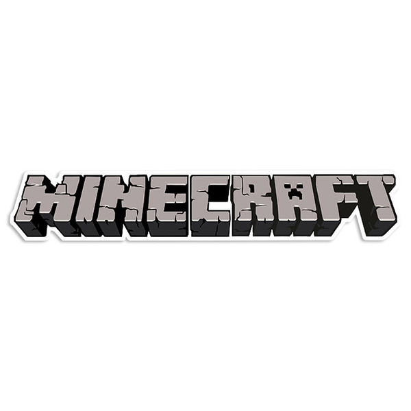 Wandtattoos: Sticker Minecraft letra