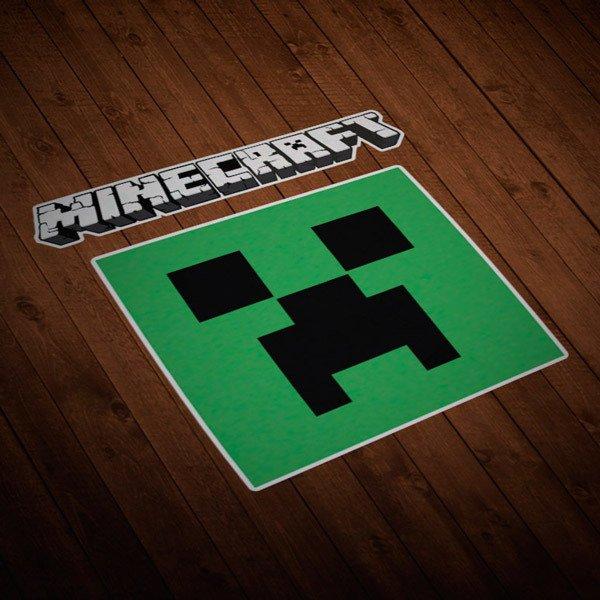 Wandtattoos: Sticker Minecraft Buchstaben und Logos