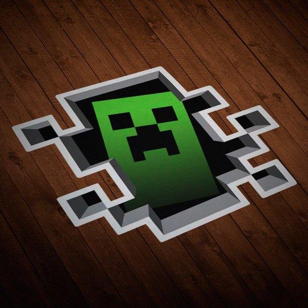 Wandtattoos: Sticker Minecraft Crepper
