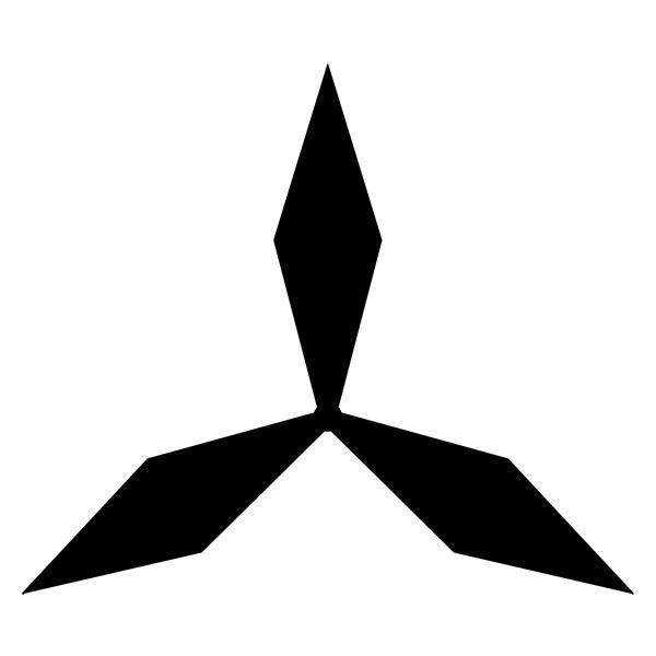 Aufkleber: Mitsubishi logo 3