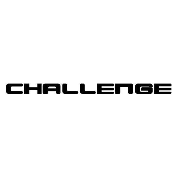 Aufkleber: Challenge