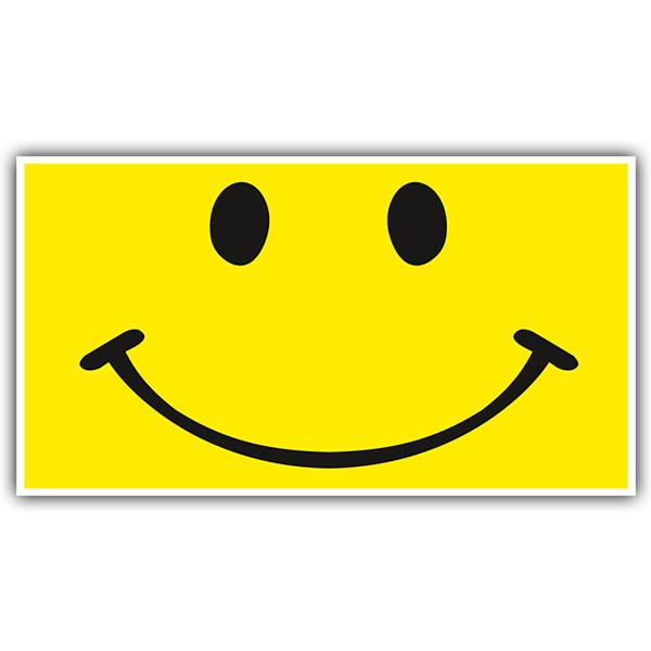 Aufkleber: Smiley