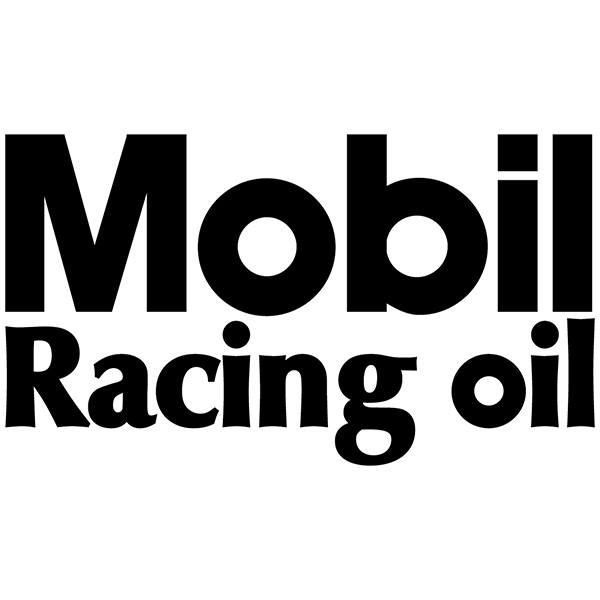 Aufkleber: Mobil Racing Oil