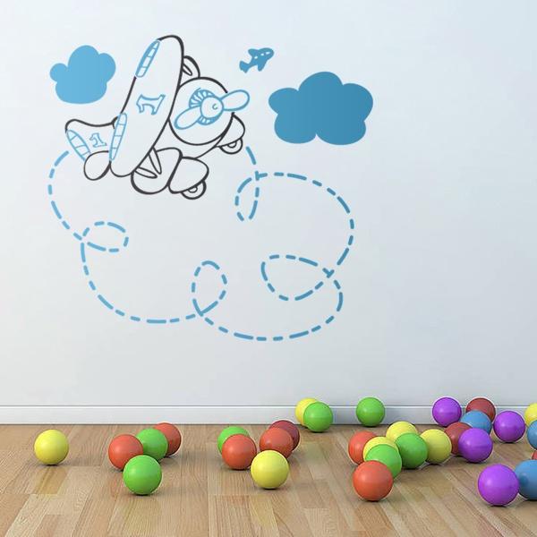 Kinderzimmer Wandtattoo: Vielfarbig Plane