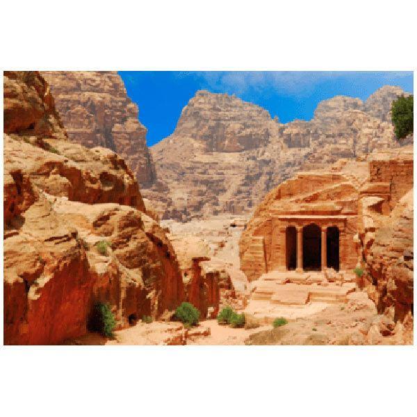 Wandtattoos: Tempel auf dem Felsen