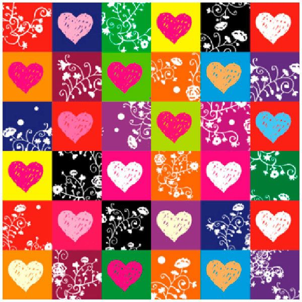 Wandtattoos: Hearts